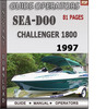 Thumbnail Seadoo Challenger 1800 1997 Operators Guide Manual Download