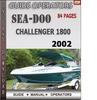 Thumbnail Seadoo Challenger 1800 2002 Operators Guide Manual Download