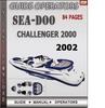 Thumbnail Seadoo Challenger 2000 2002 Operators Guide Manual Download