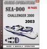 Thumbnail Seadoo Challenger 2000 2003 Operators Guide Manual Download