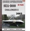Thumbnail Seadoo Challenger x 2003 Operators Guide Manual Download