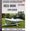 Thumbnail Seadoo Explorer 1997 Operators Guide Manual Download