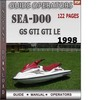 Thumbnail Seadoo GS GTS GTI 1998 Operators Guide Manual Download