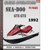 Thumbnail Seadoo GTS GTX 1992 Operators Guide Manual Download