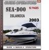 Thumbnail Seadoo Islandia 2003 Operators Guide Manual Download