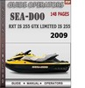 Thumbnail Seadoo RXT IS 255 GTX LIMITED IS 255 2009 Operators Guide Ma