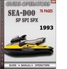 Thumbnail Seadoo SP SPI SPX 1993 Operators Guide Manual Download