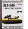 Thumbnail Seadoo SP SPX SPI series 1996 Operators Guide Manual Downloa