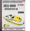 Thumbnail Seadoo Speedster SK 2000 Operators Guide Manual Download