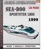 Thumbnail Seadoo Sportster 1800 1999 Operators Guide Manual Download