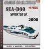Thumbnail Seadoo Sportster 2000 Operators Guide Manual Download