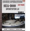 Thumbnail Seadoo Sportster LE 2001 Operators Guide Manual Download