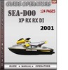 Thumbnail Seadoo XP RX RX DI 2001 Operators Guide Manual Download