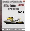 Thumbnail Seadoo XP RX RX DI 2002 Operators Guide Manual Download