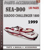 Thumbnail Seadoo Challenger 1800 1999 Parts Accessories Catalog Manual