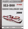 Thumbnail Seadoo Challenger 1800 2000 Parts Accessories Catalog Manual