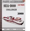 Thumbnail Seadoo Challenger 2000 Parts Accessories Catalog Manual Down