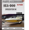 Thumbnail Seadoo Speedster SK 2000 Parts Accessories Catalog Manual Do