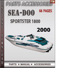 Thumbnail Seadoo Sportster 1800 2000 Parts Accessories Catalog Manual