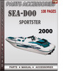 Thumbnail Seadoo Sportster 2000 Parts Accessories Catalog Manual Downl