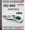 Thumbnail Seadoo Sportster LE 2000 Parts Accessories Catalog Manual Do