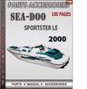 Thumbnail Seadoo Sportster LE 2000 Parts Accessories Catalog Manual Do