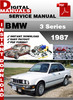 Thumbnail BMW 3 Series 1987 Factory Service Repair Manual