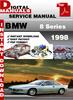 Thumbnail BMW 8 Series 1998 Factory Service Repair Manual