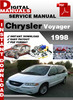 Thumbnail Chrysler Voyager 1998 Factory Service Repair Manual