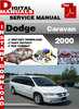 Thumbnail Dodge Caravan 2000 Factory Service Repair Manual