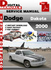 Thumbnail Dodge Dakota 2000 Factory Service Repair Manual