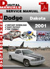 Thumbnail Dodge Dakota 2001 Factory Service Repair Manual
