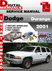 Thumbnail Dodge Durango 2001 Factory Service Repair Manual