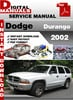 Thumbnail Dodge Durango 2002 Factory Service Repair Manual