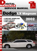 Thumbnail Dodge LX Magnum 2002 Factory Service Repair Manual