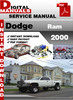 Thumbnail Dodge Ram 2000 Factory Service Repair Manual