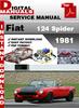 Thumbnail Fiat 124 Spider 1981 Factory Service Repair Manual