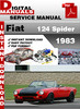 Thumbnail Fiat 124 Spider 1983 Factory Service Repair Manual
