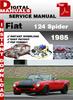 Thumbnail Fiat 124 Spider 1985 Factory Service Repair Manual