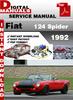 Thumbnail Fiat 124 Spider 1992 Factory Service Repair Manual