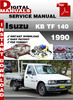 Thumbnail Isuzu KB TF 140 1990 Factory Service Repair Manual
