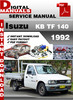 Thumbnail Isuzu KB TF 140 1992 Factory Service Repair Manual