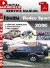 Thumbnail Isuzu Rodeo Sport 2000 Factory Service Repair Manual
