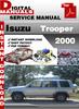 Thumbnail Isuzu Trooper 2000 Factory Service Repair Manual