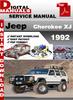 Thumbnail Jeep Cherokee XJ 1992 Factory Service Repair Manual