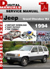 Thumbnail Jeep Grand Cherokee WJ 1994 Factory Service Repair Manual
