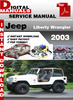 Thumbnail Jeep Wrangler 2003 Factory Service Repair Manual