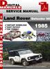 Thumbnail Land Rover Defender 90 1985 Factory Service Repair Manual