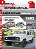 Thumbnail Land Rover Defender 110 1983 Factory Service Repair Manual