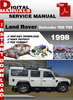 Thumbnail Land Rover Defender 300 Tdi 1998 Factory Service Repair Manu